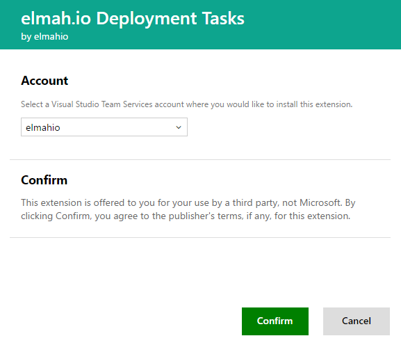 elmah.io VSTS account