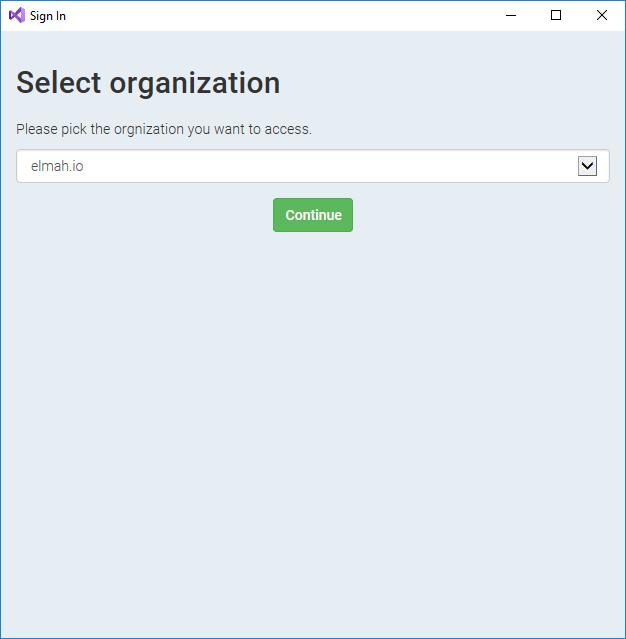 visualstudio-selectorganization.png
